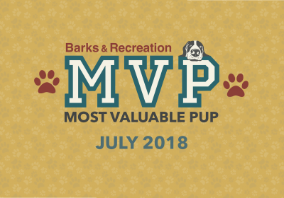 Barks & Recreation Most Valuable Pups (MVPs) — July 2018